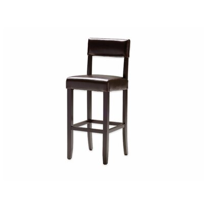 """Paige 29"""" Bar Stool Upholstery: Brown Bycast"""