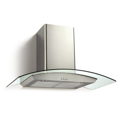"36"" Ancona Glass Canopy Series 450 CFM Convertible Wall Mount Range Hood"