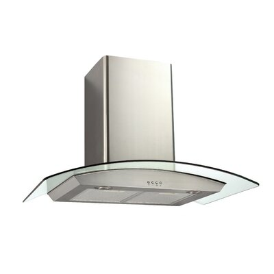 "30"" Ancona Glass Canopy Series 400 CFM Convertible Wall Mount Range Hood"