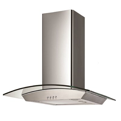 "30"" Wall Glass Canopy 400 CFM Ducted Wall Mount Range Hood"