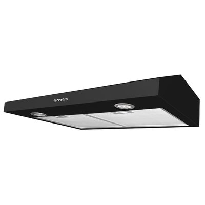 "30"" Slim Plus 325 CFM Ducted Under Cabinet Range Hood Finish: Black"