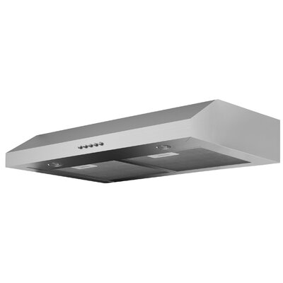"30"" Slim Plus 325 CFM Ducted Under Cabinet Range Hood Finish: Stainless Steel"