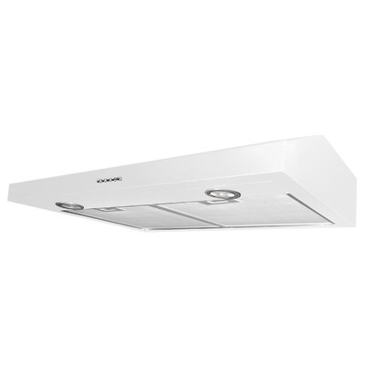"30"" Slim Plus 325 CFM Ducted Under Cabinet Range Hood Finish: White"