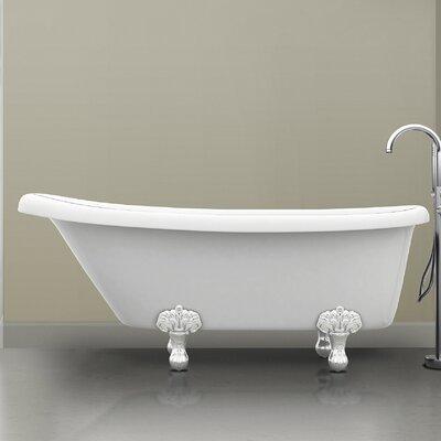 """Monroe 67"""" x 26.3"""" Claw Foot Bathtub"""