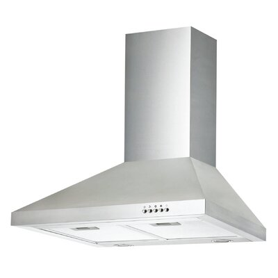 "30"" Ancona Pyramid Series 400 CFM Convertible Wall Mount Range Hood"