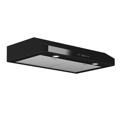 "30"" Slim Chef 325 CFM Ducted Under Cabinet Range Hood Finish: Black"