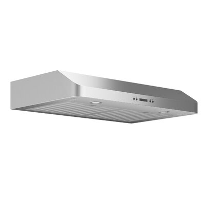 "30"" Slim Chef 325 CFM Ducted Under Cabinet Range Hood Finish: Stainless Steel"