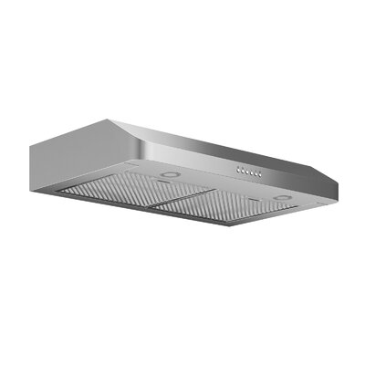 "30"" Ducted 280 CFM Ducted Under Cabinet Range Hood Finish: Stainless Steel"