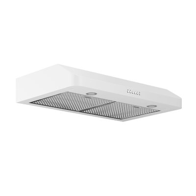 "30"" Ducted 280 CFM Ducted Under Cabinet Range Hood Finish: White"