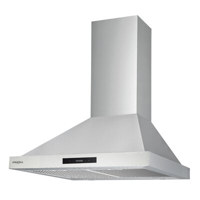 "30"" Convertible Pyramid 400 CFM Ducted Wall Mount Range Hood"