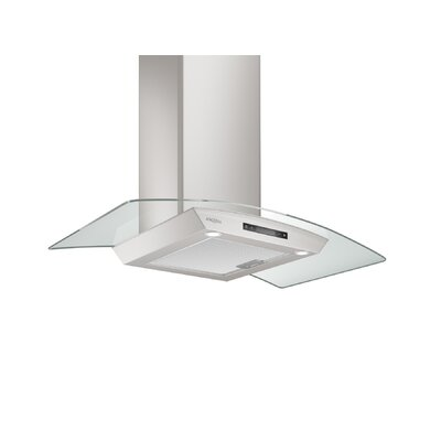 "36"" Convertible Glass Canopy 400 CFM Ducted Wall Mount Range Hood"