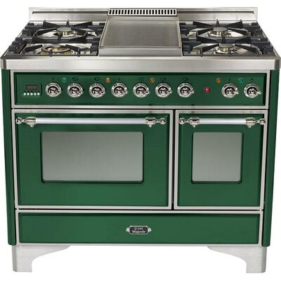 "40"" Free-standing Gas Range with Griddle Finish: Emerald Green, Gas Type: Natural Gas"