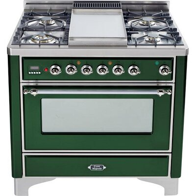 """36"""" Free-Standing Dual Fuel Range with Griddle Finish: Emerald Green, Gas Type: Natural Gas"""