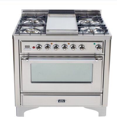 """36"""" Free-standing Gas Range with Griddle Finish: Stainless, Gas Type: Liquid Propane"""
