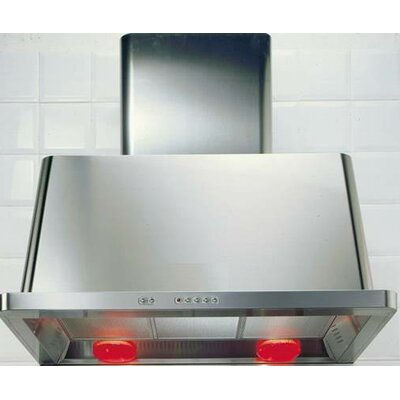 """60"""" 600 CFM Ducted Wall Mount Range Hood Finish: Stainless"""