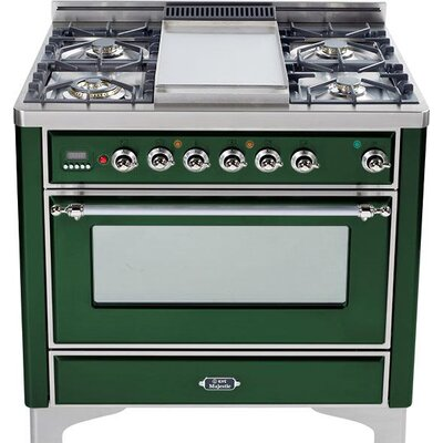 "36"" Free-standing Dual Fuel Range Finish: Emerald Green, Gas Type: Liquid Propane"