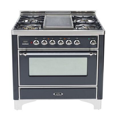"""36"""" Free-Standing Dual Fuel Range with Griddle Finish: Matte Graphite, Gas Type: Natural Gas"""