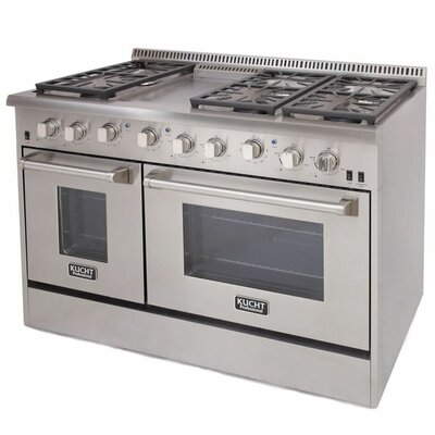 "Professional 48"" Free-standing Gas Range with Griddle"