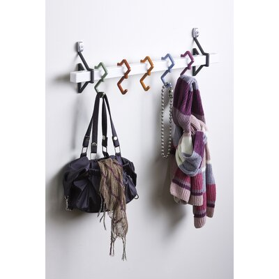 5 Hook Wall Mounted Coat Rack