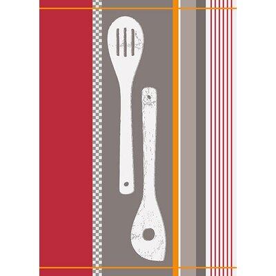 DeroTextil Wooden Spoon Jacquard Kitchen Towel