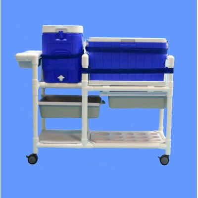 48 Qt. Hydration Rolling Ice Cart/Water Cooler