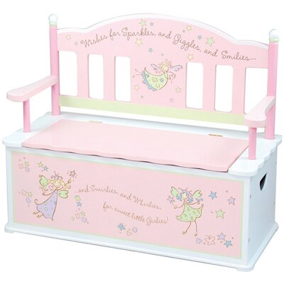 Levels of Discovery Fairy Wishes Kids Bench with Storage Compartment