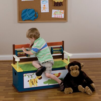Levels of Discovery Jungle Jingle Kids Bench with Storage Compartment