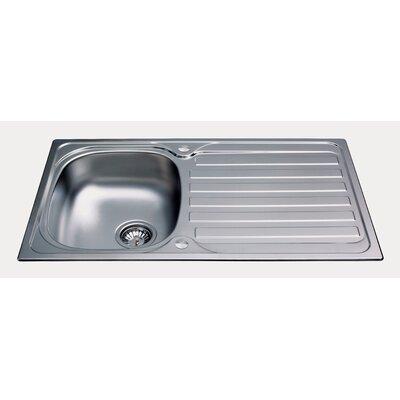 CDA 86cm x 50cm Kitchen Sink with Tap Pack