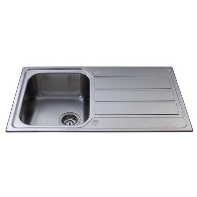 CDA 86 cm x 50 cm Compact Single Bowl Kitchen Sink