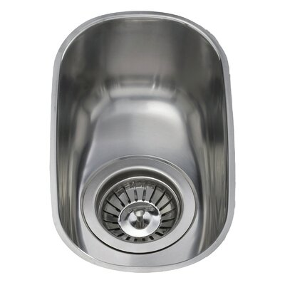 CDA 30.4 cm x 18 cm Undermount Half Bowl Kitchen Sink