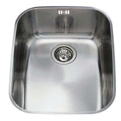 CDA 52.3 cm x 42.4 cm Undermount Rectangular Single Bowl Kitchen Sink