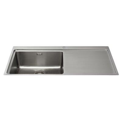 CDA 100 cm x 52 cm Single Bowl Flush Right Handed Fit Kitchen Sink