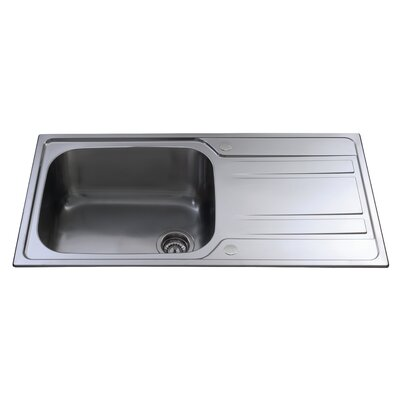 CDA 100 cm x 50 cm Large Single Bowl Kitchen Sink
