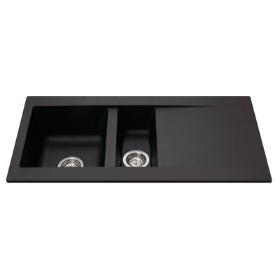 CDA 100 cm x 50 cm Composite One and a Half Bowl Kitchen Sink