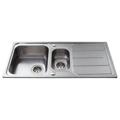 CDA 97 cm x 50 cm One and a Half Bowl Kitchen Sink