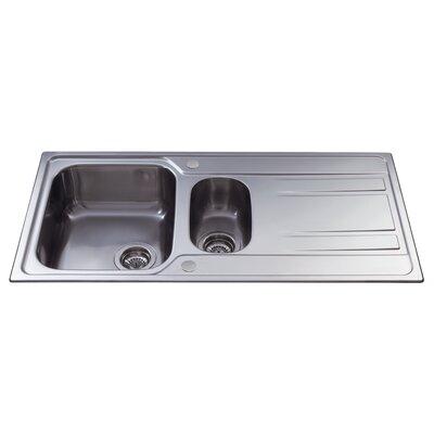 CDA 100 cm x 50 cm One and a Half Bowl Kitchen Sink