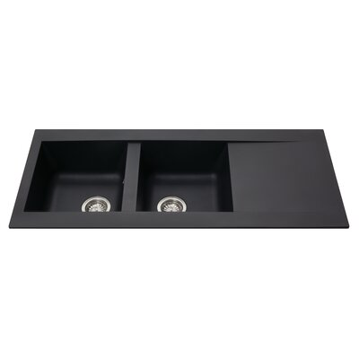 CDA 116 cm x 50 cm Composite Double Bowl Kitchen Sink