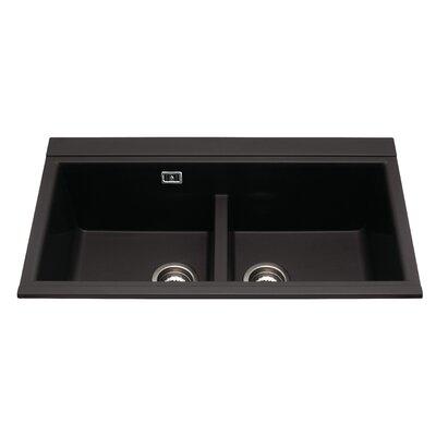 CDA 86 cm x 51 cm Composite Double Bowl Kitchen Sink