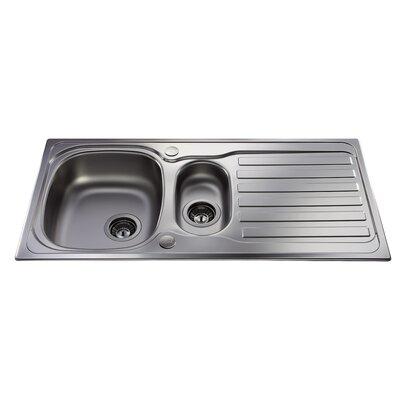 CDA 100 cm x 50 cm Kitchen Sink with Tap Pack