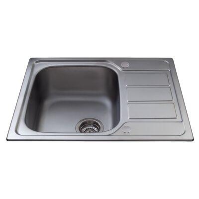 CDA 62 cm x 50 cm Single Bowl Kitchen Sink with Mini Drainer