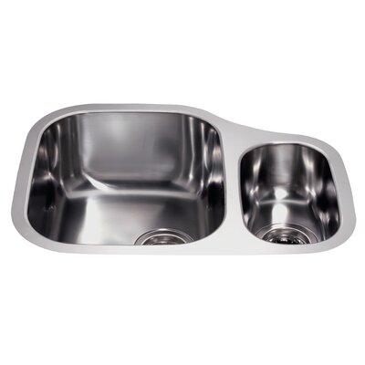 CDA 59 cm x 45.6 cm Undermount Left Hand One and a Half Bowl Kitchen Sink