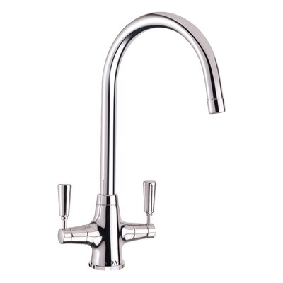CDA Traditional Taps Double Handle Monobloc Deck Mounted Kitchen Tap