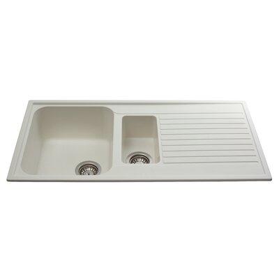 CDA 99 cm x 50 cm Composite One and a Half Bowl Kitchen Sink