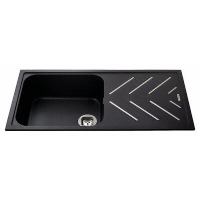 CDA 100cm x 50cm Single Bowl Composite Kitchen Sink