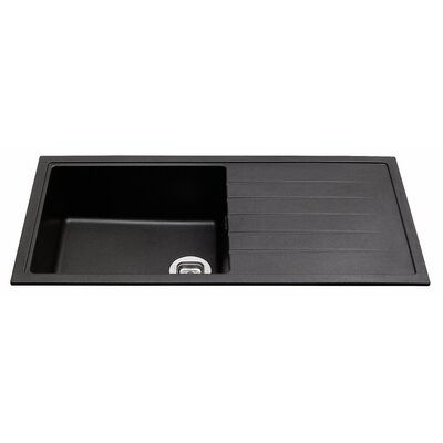 CDA 100cm x 50cm Single Bowl Composite Kitchen Sink