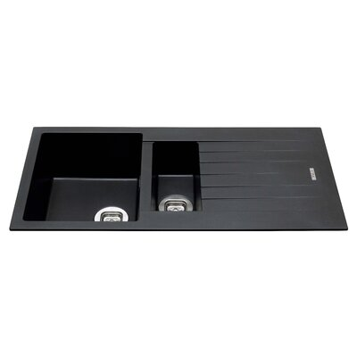CDA 100cm x 50cm 1 1/2 Bowl Composite Kitchen Sink