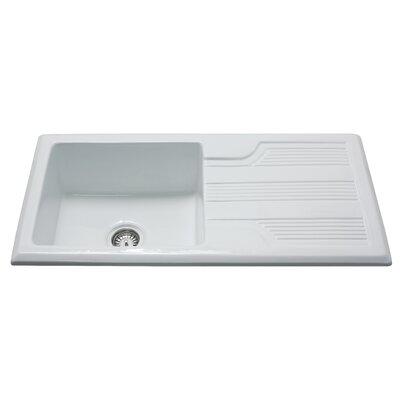 CDA 101cm x 51cm Ceramic Single Bowl Kitchen Sink