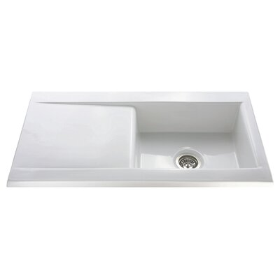CDA 101cm x 51cm Ceramic Single Bowl Kitchen Sink
