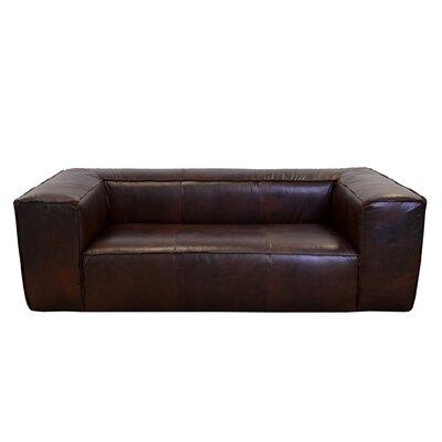 Lawton Genuine Top Grain Leather Sofa Upholstery: Berkshire Charcoal