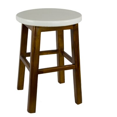 Andy's Stool Seat Finish: White